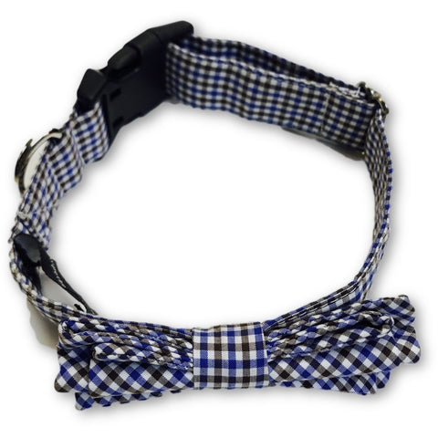 The Dapper Pet Checkered Bow Tie Colllar - Pet Bound Co.
