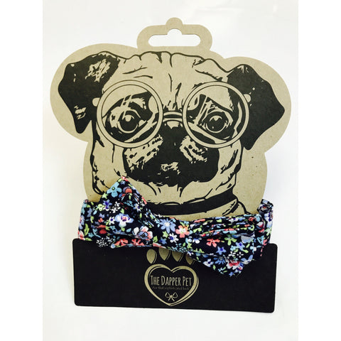 The Dapper Pet Floral Bow Tie Collar - Pet Bound Co.