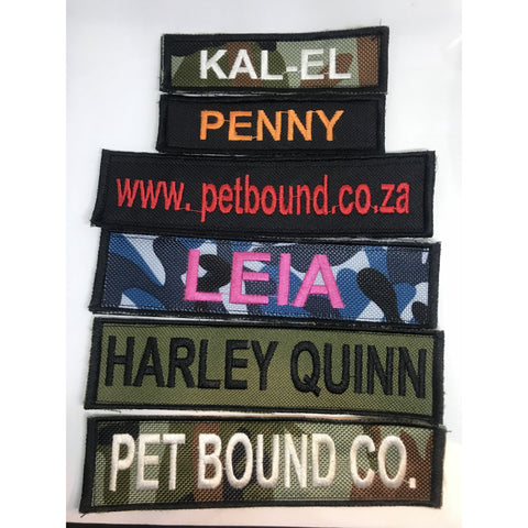 Custom Embroidered Harness Patch - Pet Bound Co.