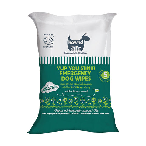 Hownd - Yup You Stink! Emergency Antibacterial Dog Wipes - Pet Bound Co.