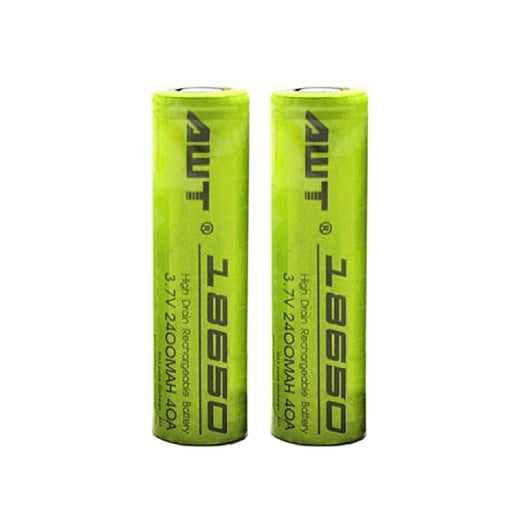 AWT 18650 3.7v 2400mAh 40A BATTERIES *(SOLD AS PAIR)