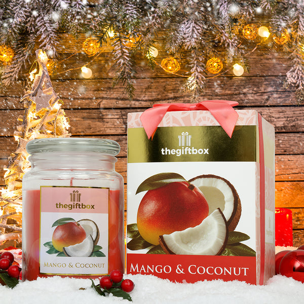 Mango and Coconut  -  Large Scented Candle