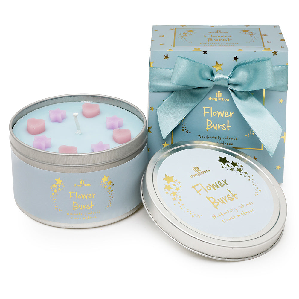 Flower Burst Scented Tin Candle