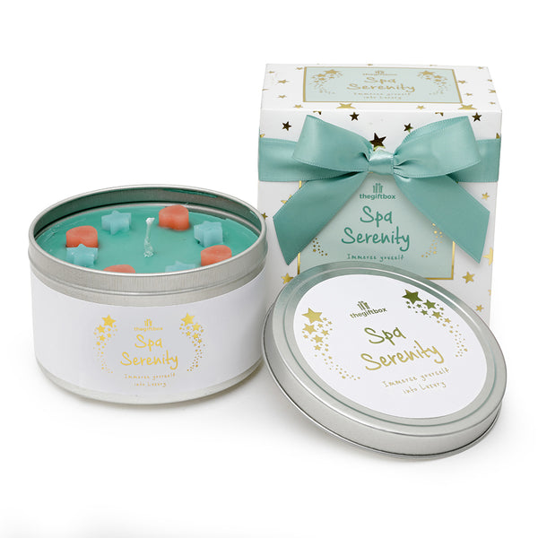 Spa Serenity Scented Tin Candle