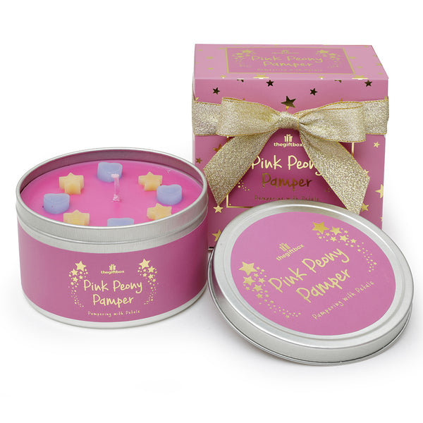 Pink Peony Pamper Scented Tin Candle