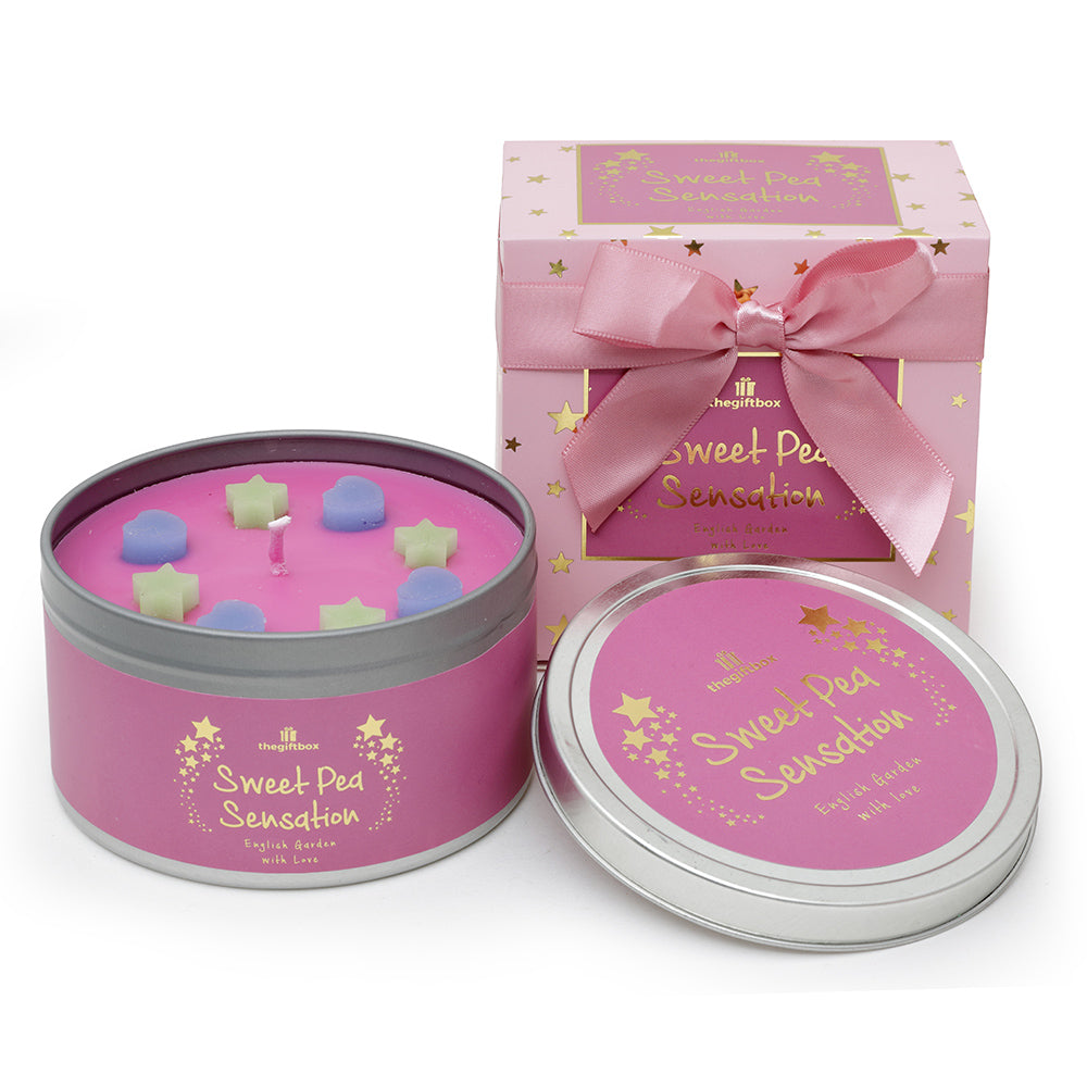 Sweet Pea Sensation Scented Tin Candle