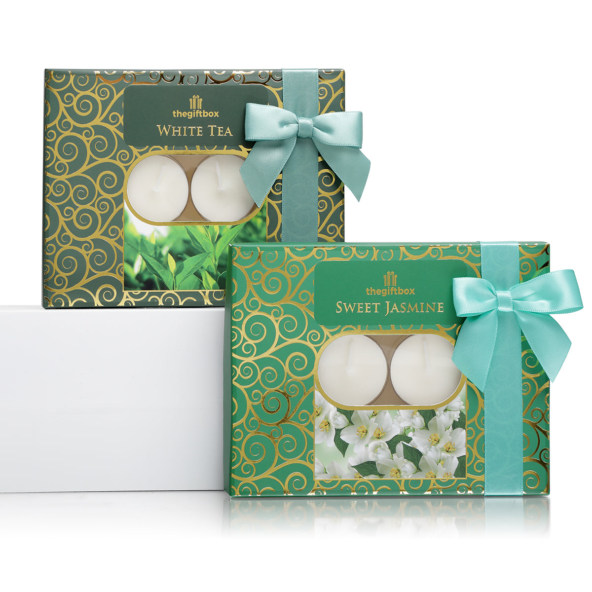 Twin Pack -  2 x 12 Scented Tea Lights, White Tea and Sweet Jasmine