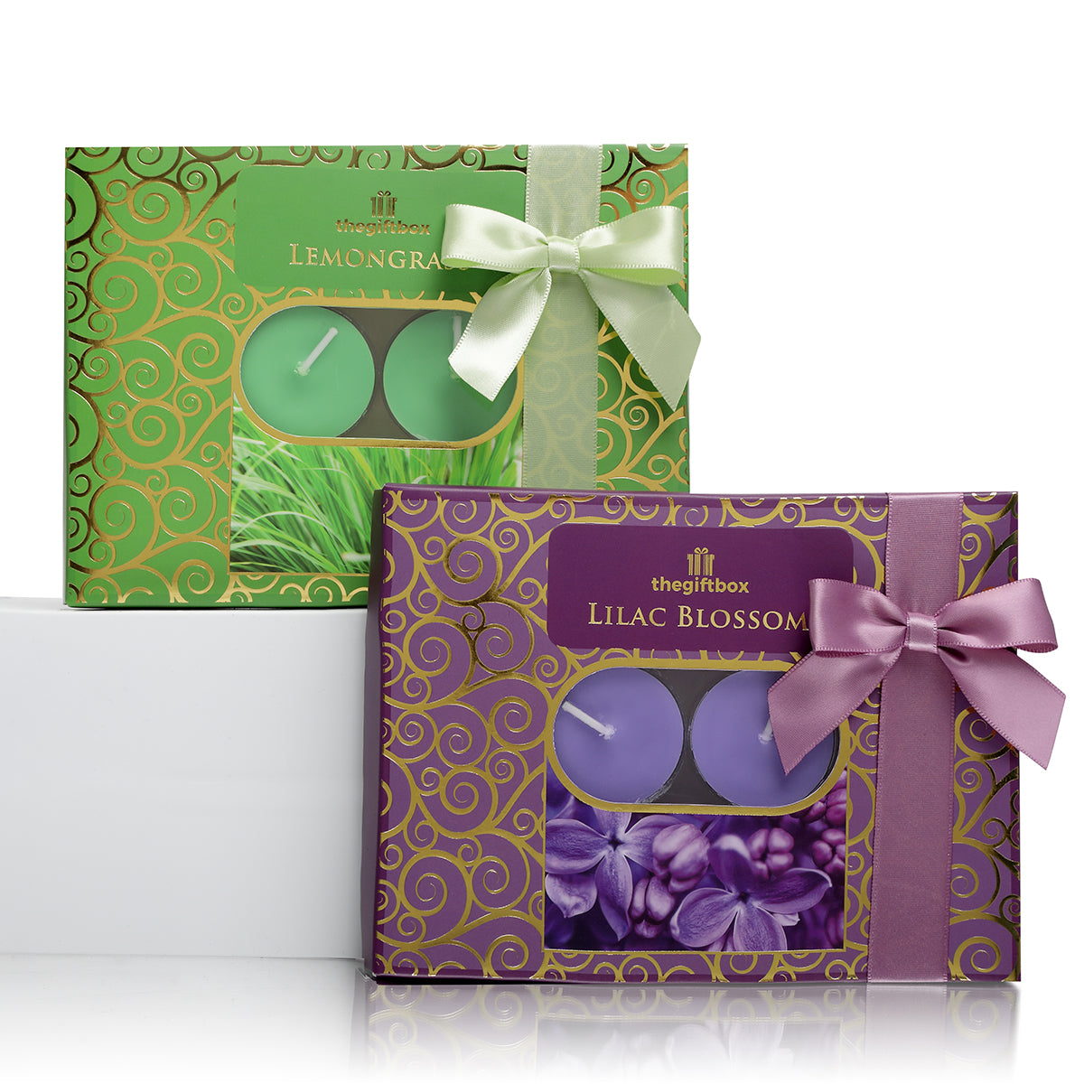 Twin Pack -  2 x 12 Scented Tea Lights, Lemongrass and Lilac Blossom
