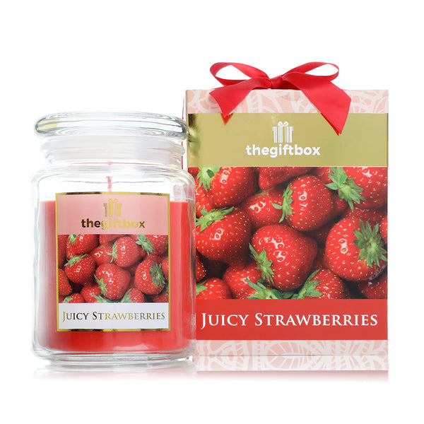 Juicy Strawberries Large Candle