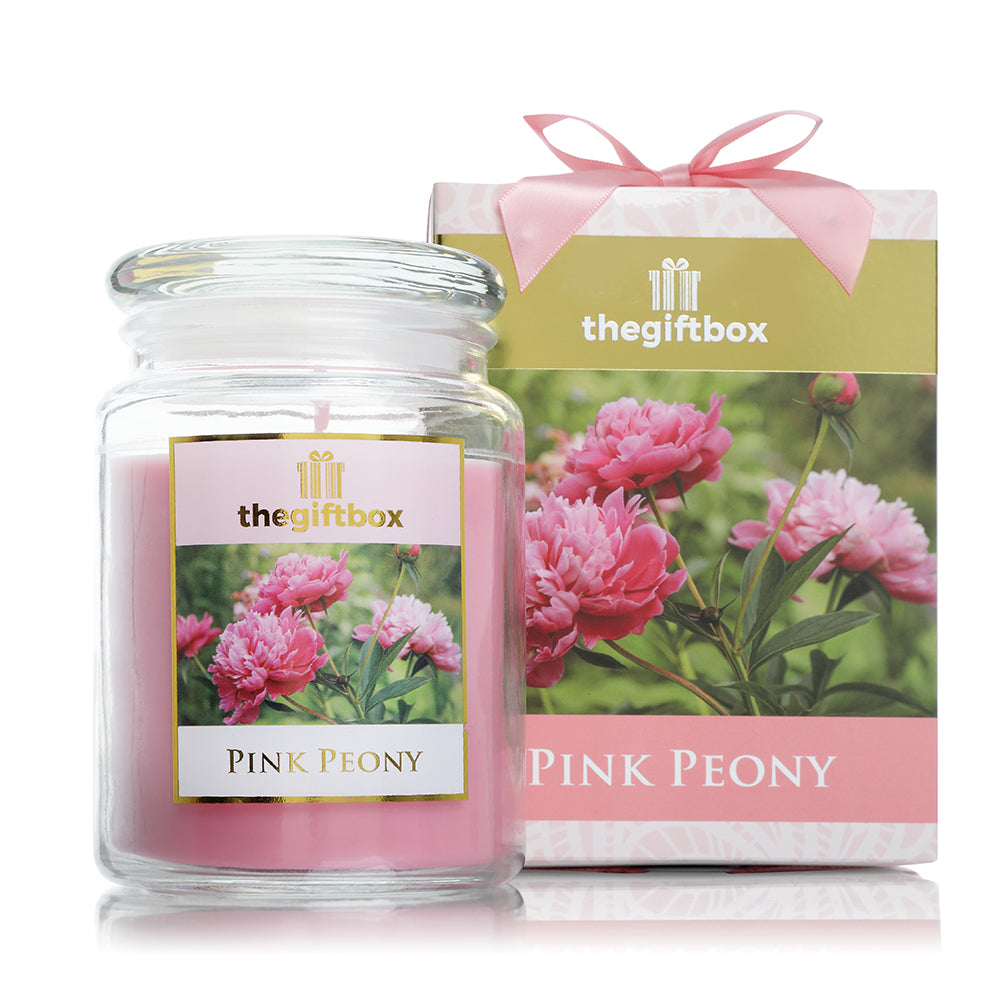 Pink Peony  Large Candle