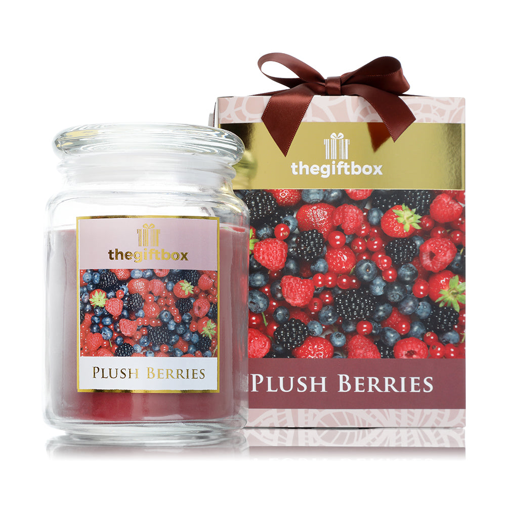 Plush Berries  Large Candle