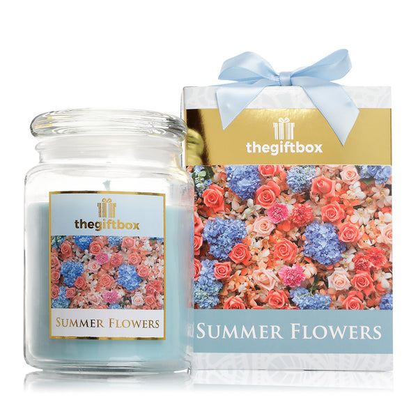 Summer Flowers  Large Candle