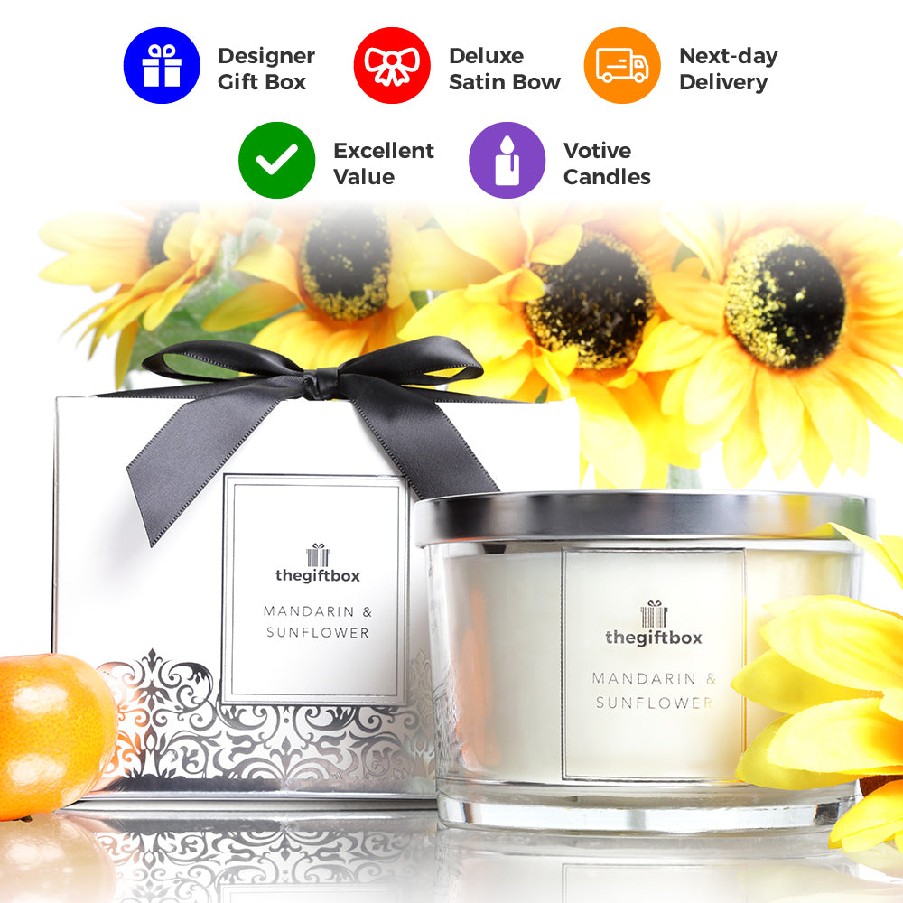 Mandarin and Sunflower Luxury Candle