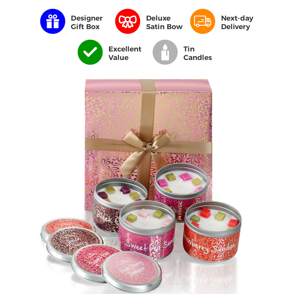 Glitterfluff   - 4 Tin Candles