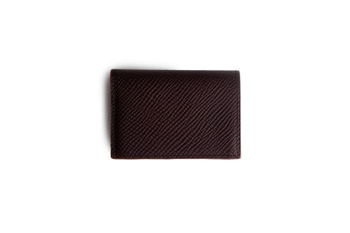 Credit card wallet Dark Brown Hatch Grain