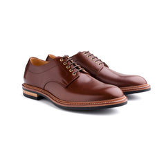 Joe Works Plain Toe Derby in Chestnut Calf - Pre Order 50%