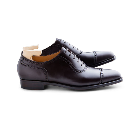 Adelaide Oxford in Dark Brown French Calf