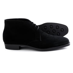 Joe Works Chukka Boot in Black Suede - Pre Order 50%