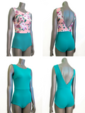 NAMIKO Cruiser sleeveless surf suit in Seafoam & Floral
