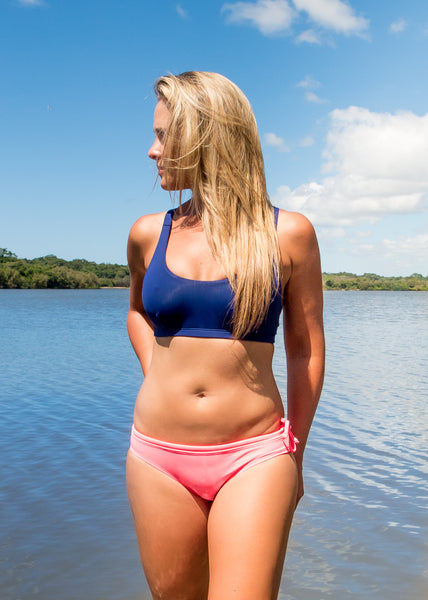 NAMIKO | Seeker sports bra surf bikini top front.