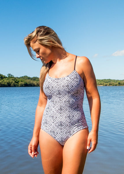 NAMIKO | Gypsy one piece surf suit front.
