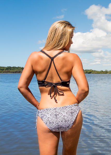 NAMIKO | Explorer halter surf bikini top back.