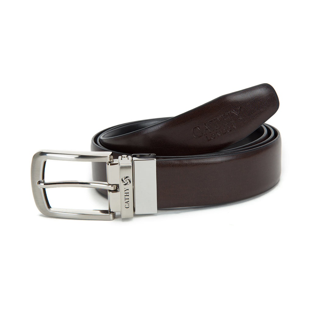 Cathy London Cut-to-Size Reversible Genuine Leather Belt
