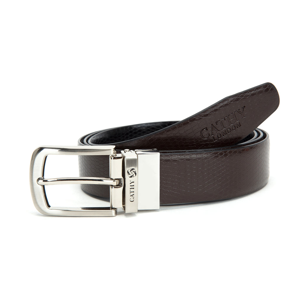 Cathy London Cut-to-Size Reversible  PU Leather Belt