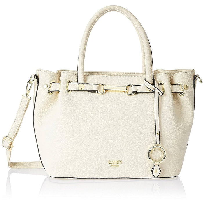 Cathy London Women's Handbag, Material- Synthethic Leather, Colour- Beige