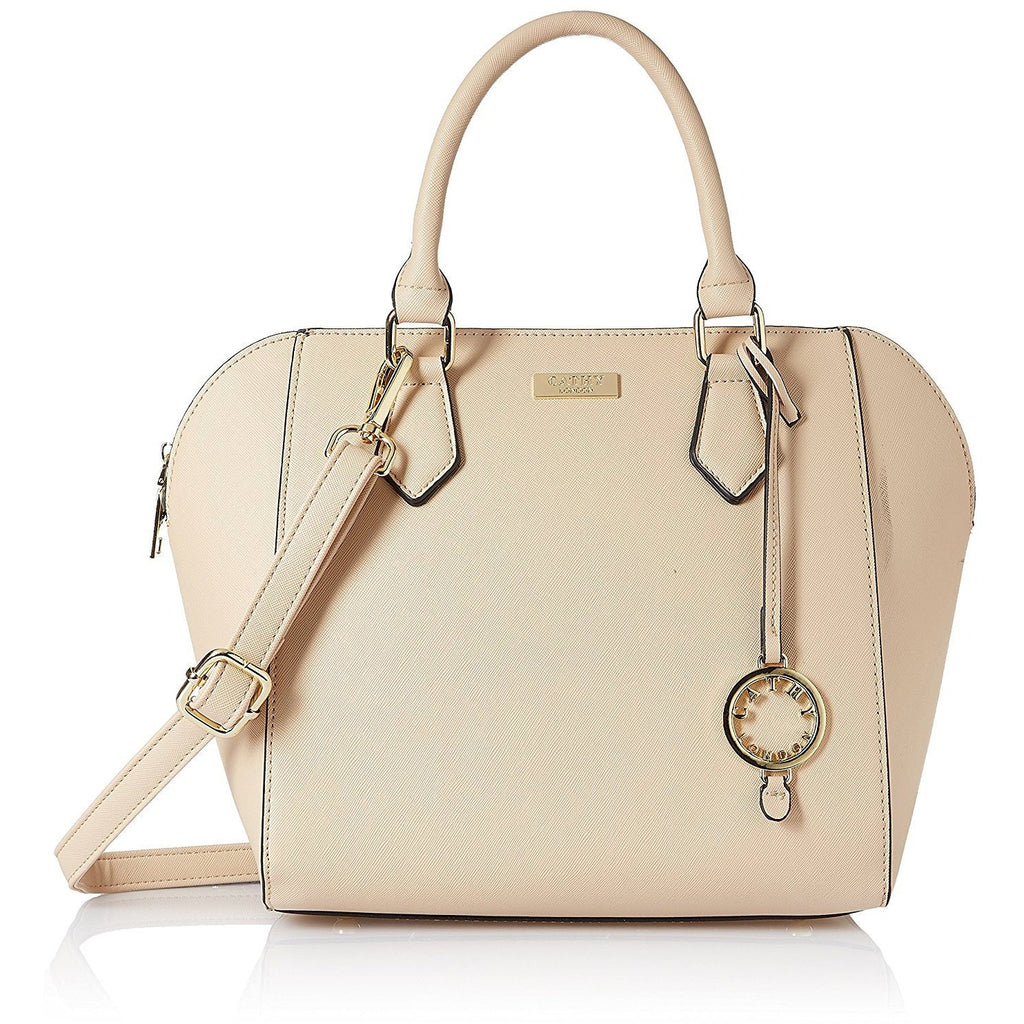 cathy london women's handbag beige