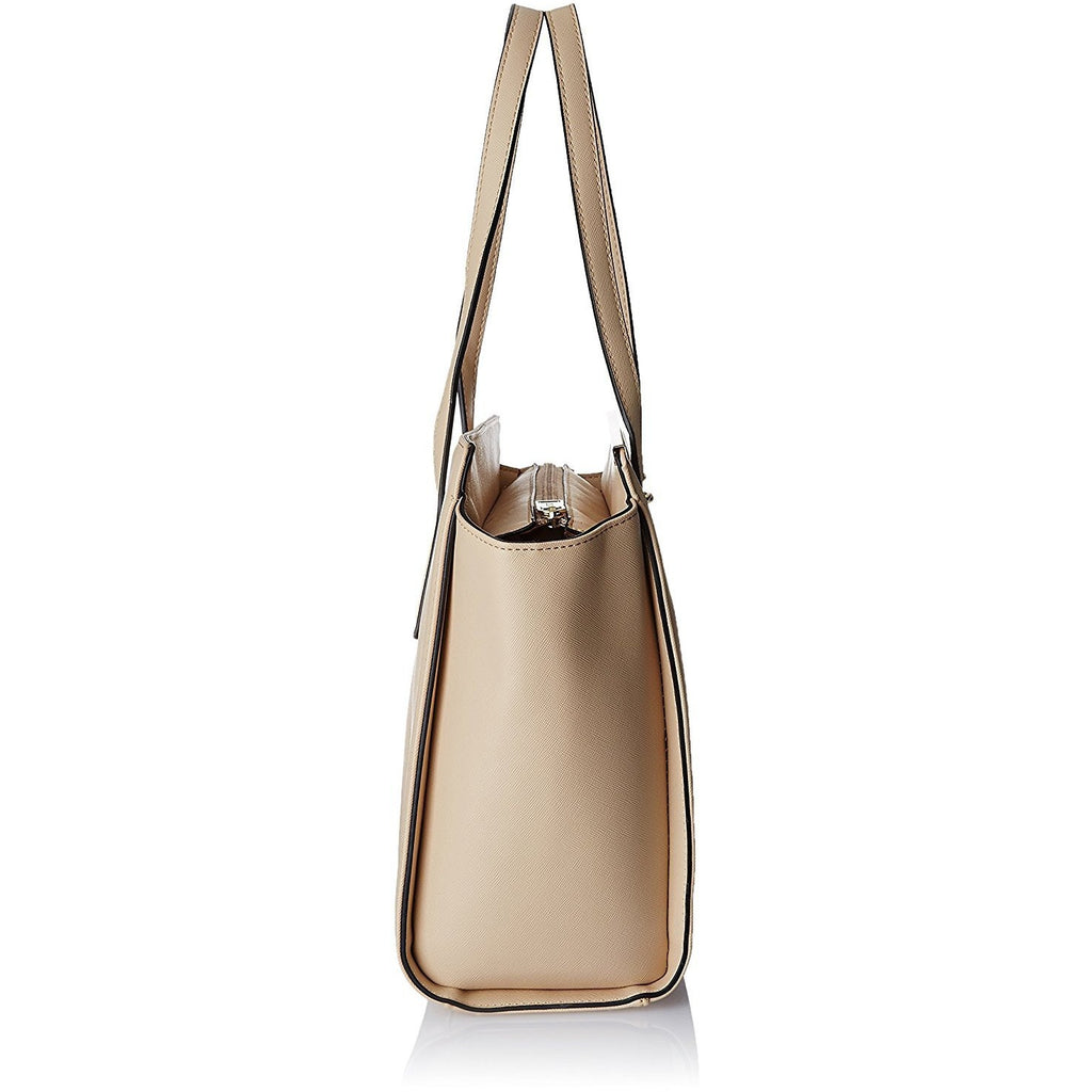 Cathy London Women's Tote Handbag, Colour- Beige, Material- Synthetic Leather