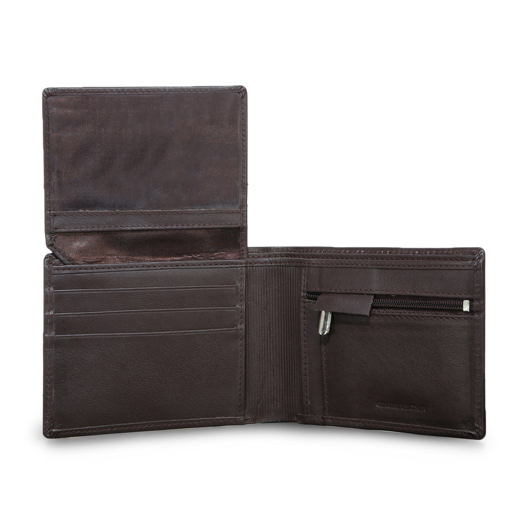 Cathy London RFID Men's Ostrich Print Wallet 5cc with coin case