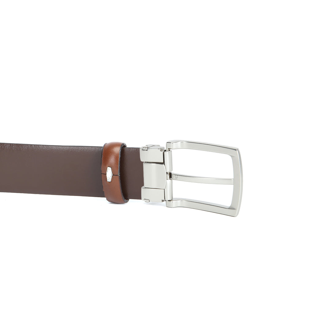 Cathy London Cut-to-Size Genuine Leather Belt Brown
