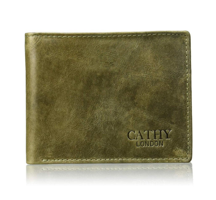 Cathy London RFID  Men's Wallet 5cc with coin pocket