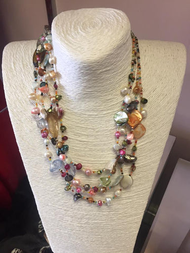 Multi colour stone necklace