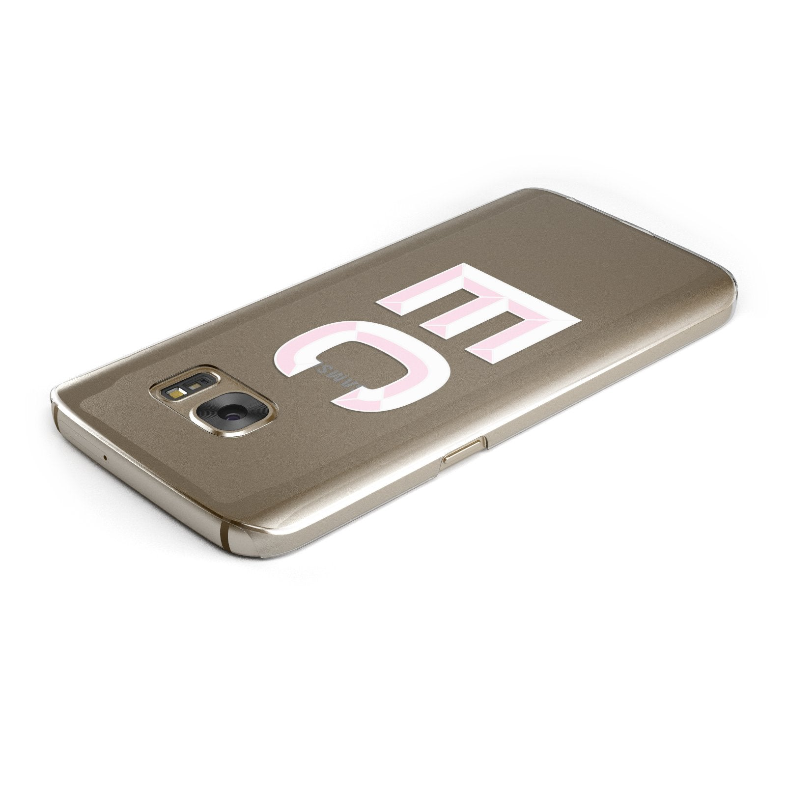 Personalised 3D Side Initials Clear Custom Samsung Galaxy Case Top Cutout