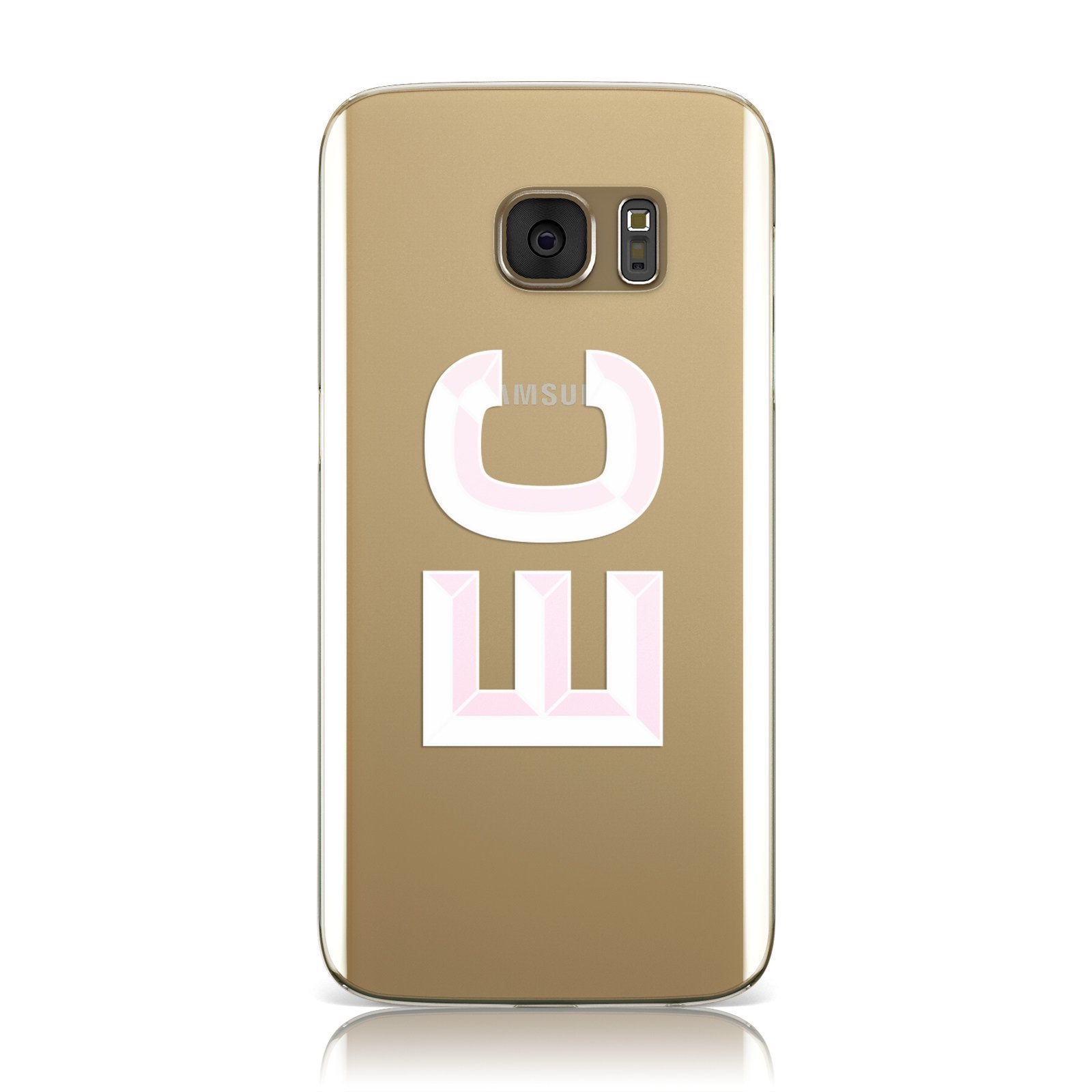 Personalised 3D Side Initials Clear Custom Samsung Galaxy Case