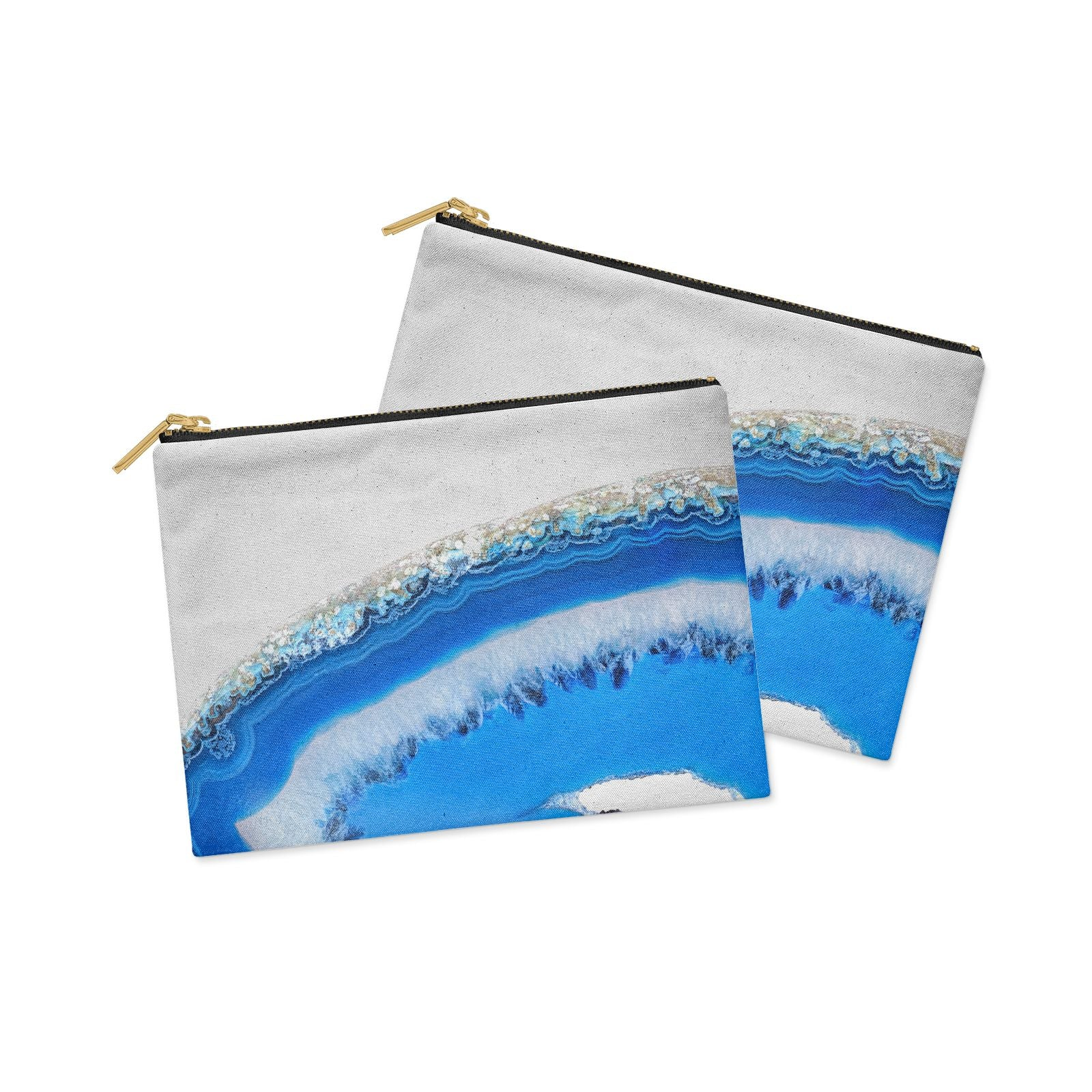 Agate Blue Clutch Bag Zipper Pouch Alternative View