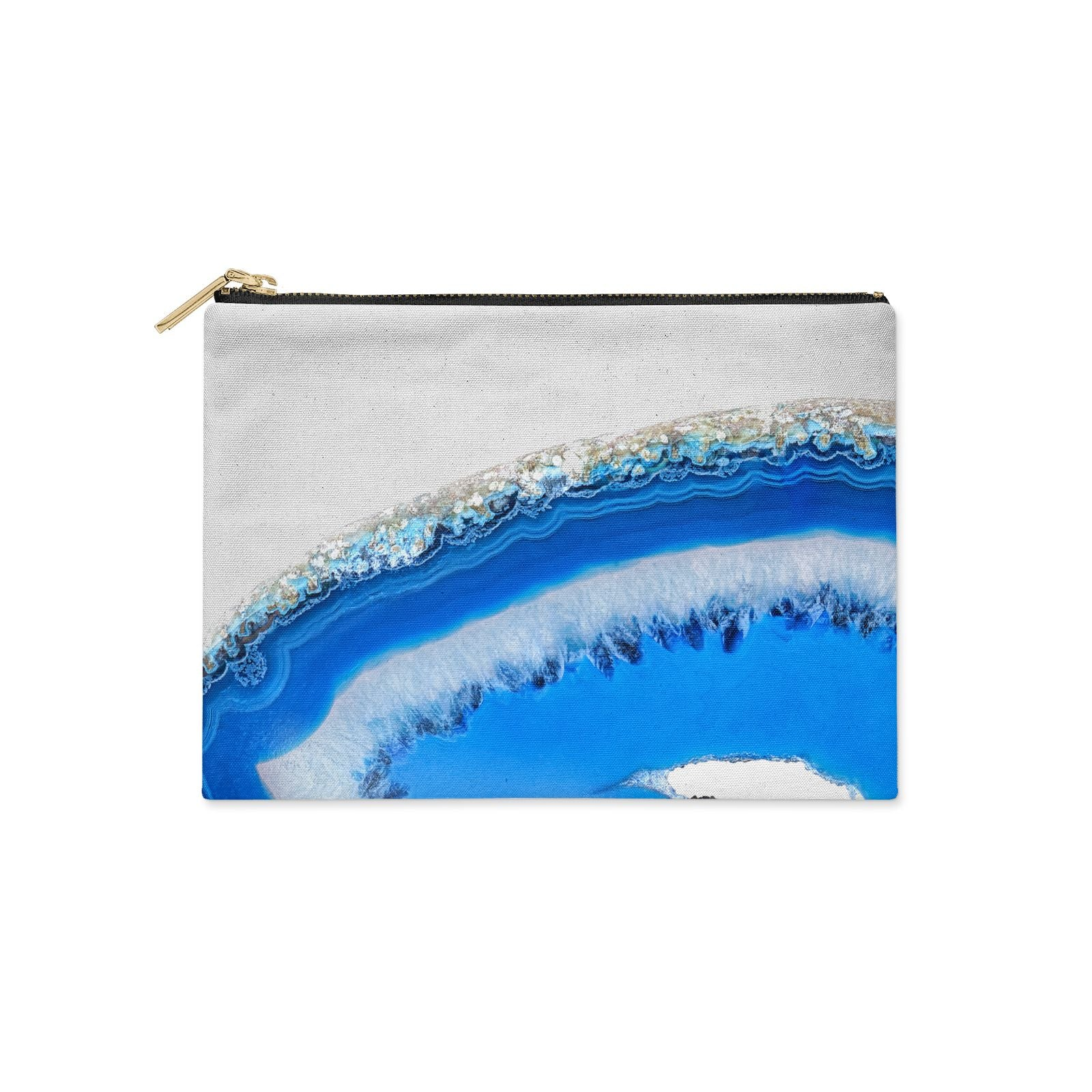 Agate Blue Clutch Bag Zipper Pouch