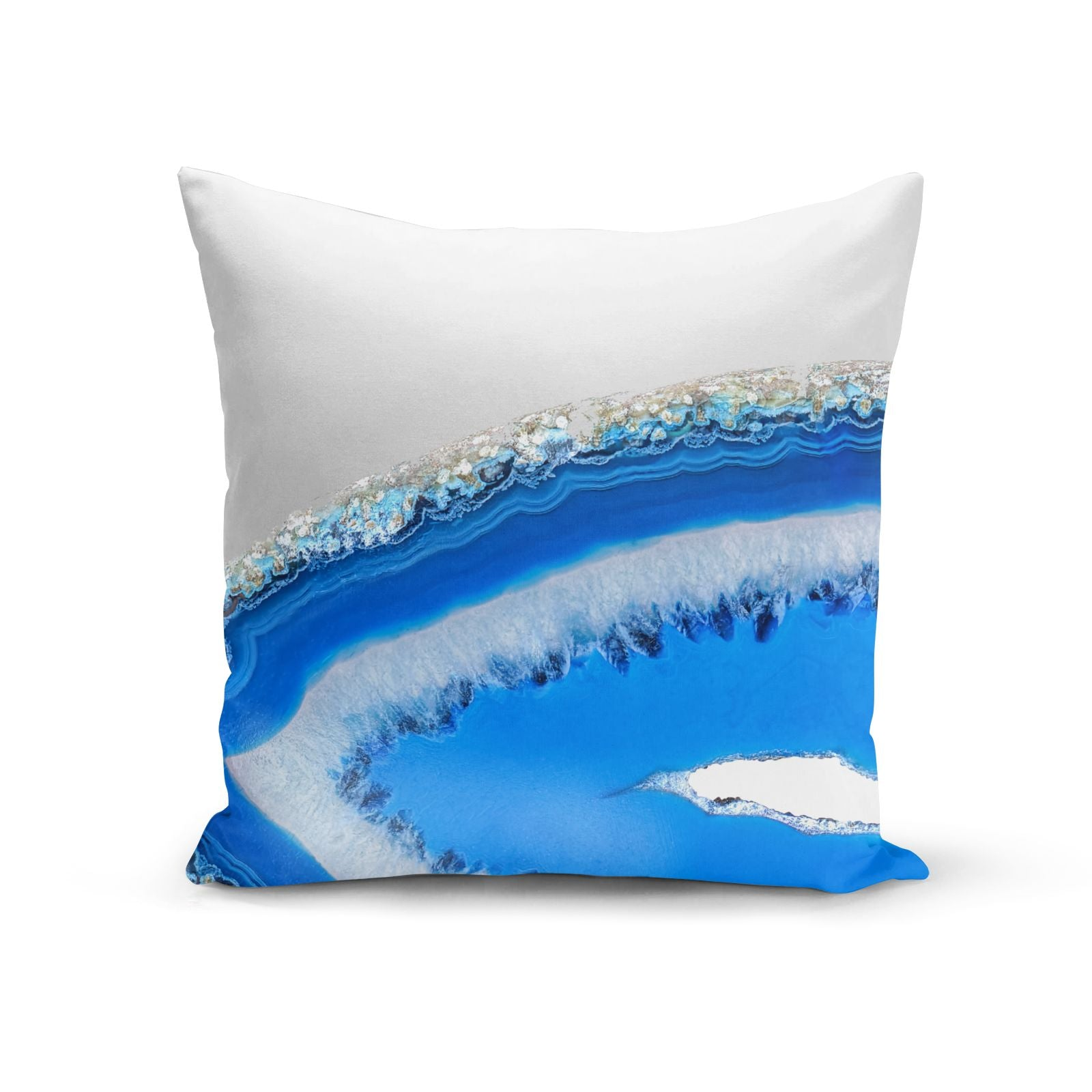 Agate Blue Cotton Cushion