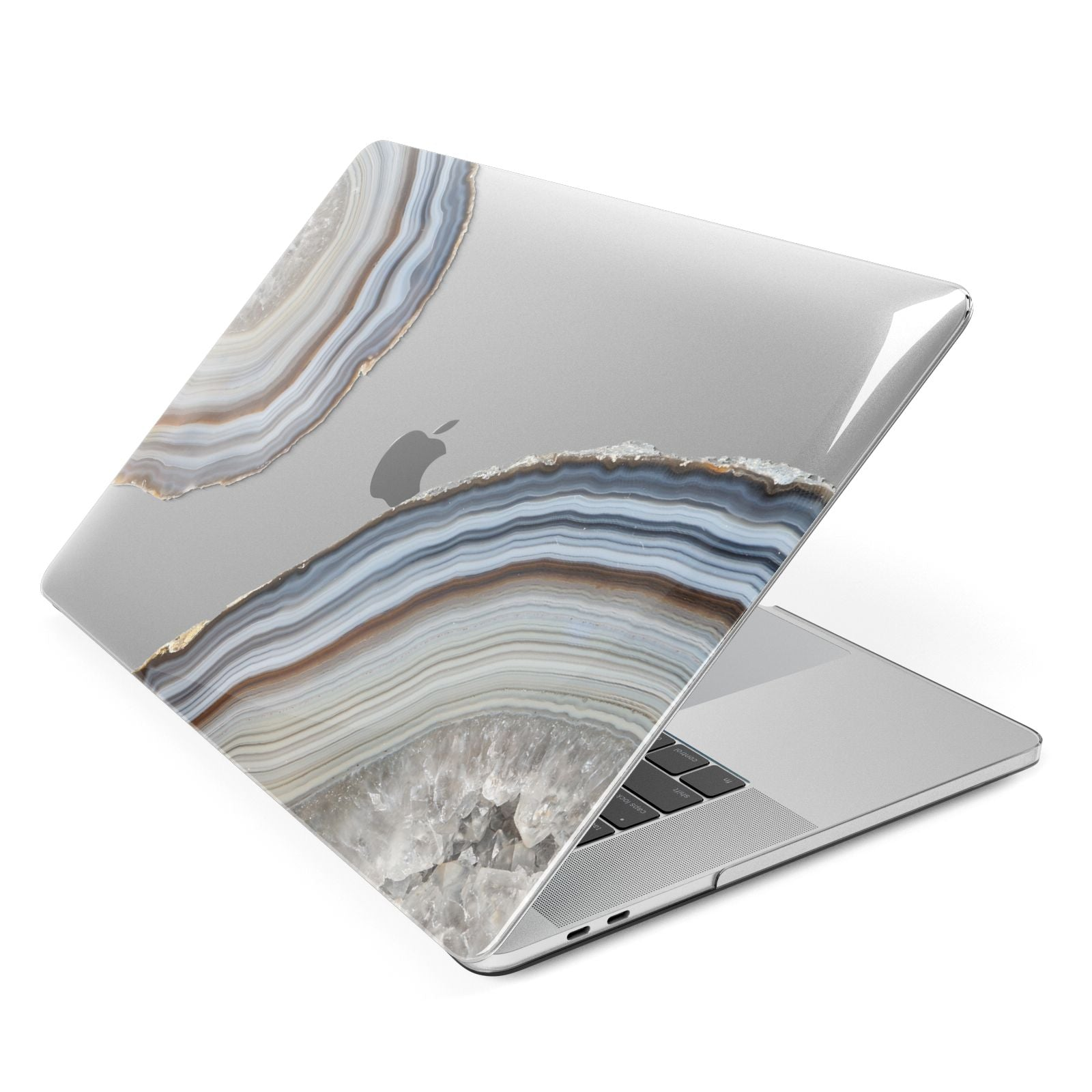 Agate Blue Grey Apple MacBook Case Side View