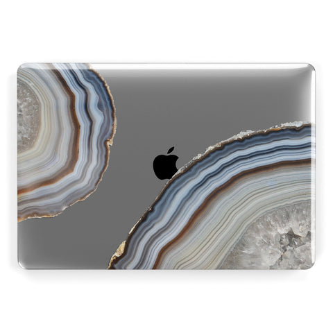 Agate Blue & Grey Apple Macbook Case