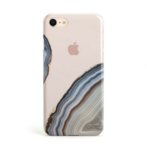 Agate Blue & Grey Apple iPhone Case