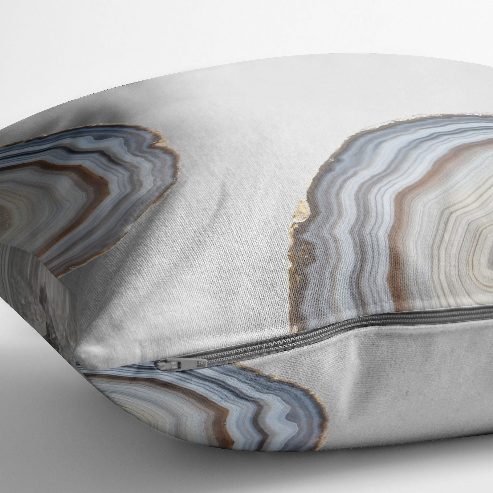 Agate Blue Grey Cotton Cushion Alternative Image