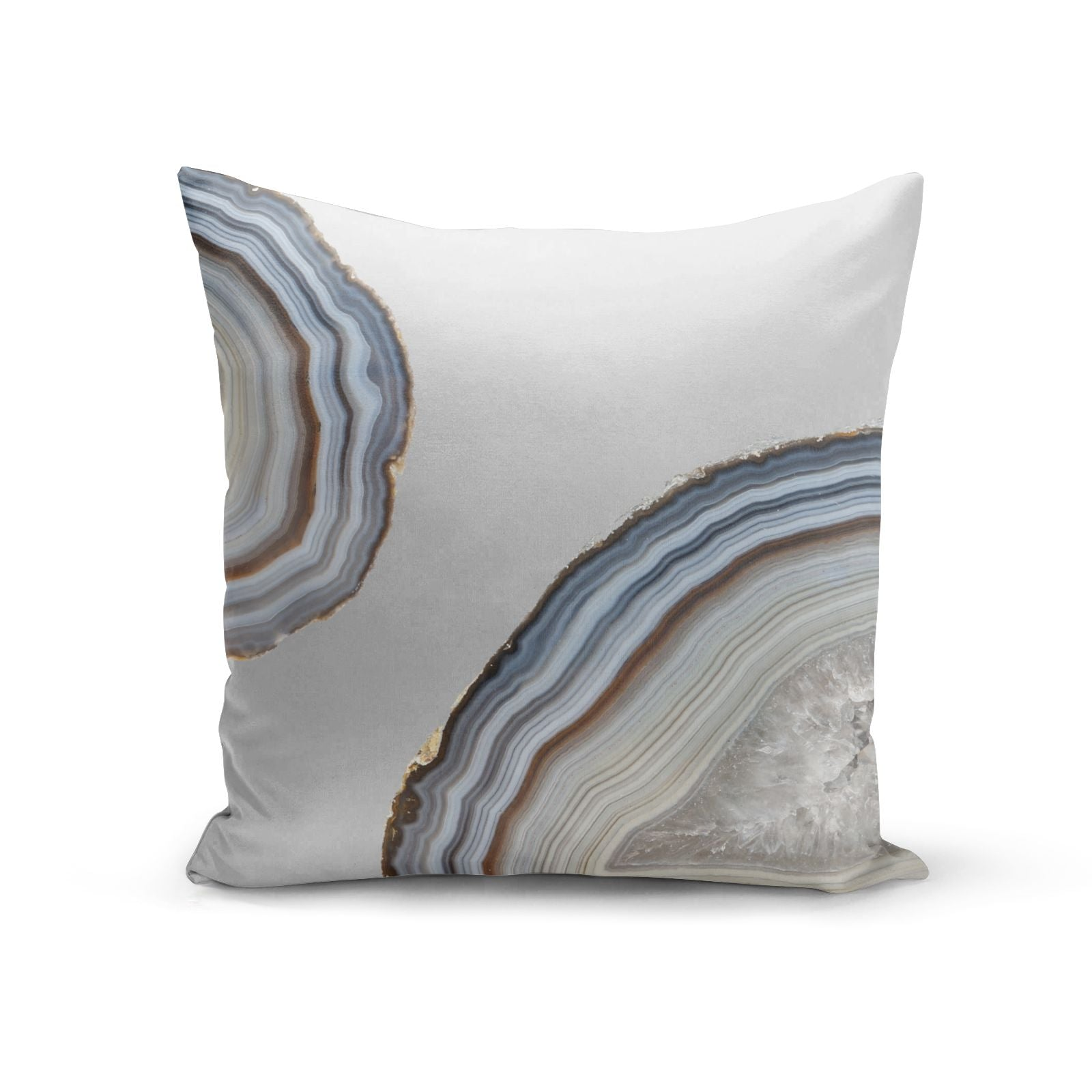 Agate Blue Grey Cotton Cushion