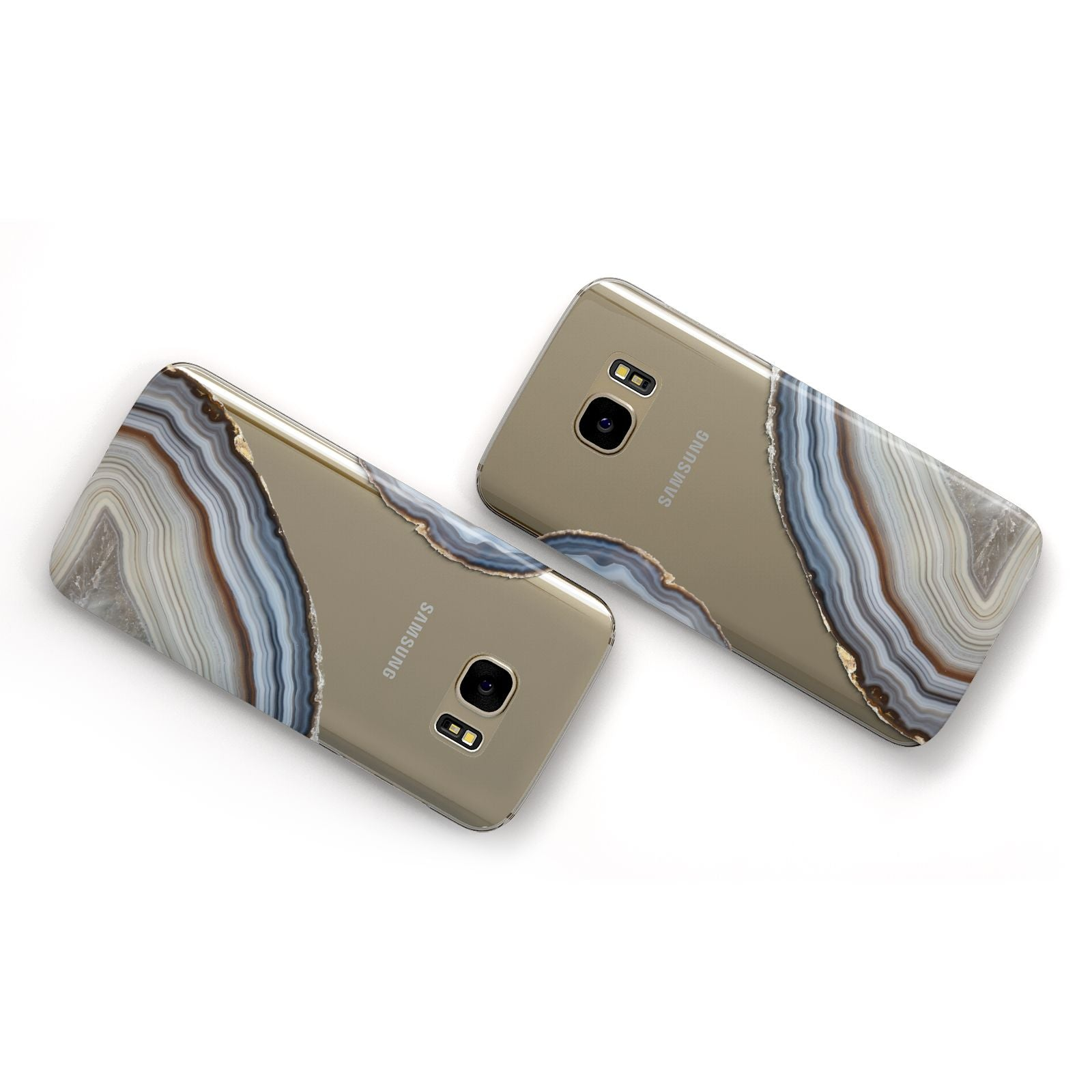 Agate Blue Grey Samsung Galaxy Case Flat Overview