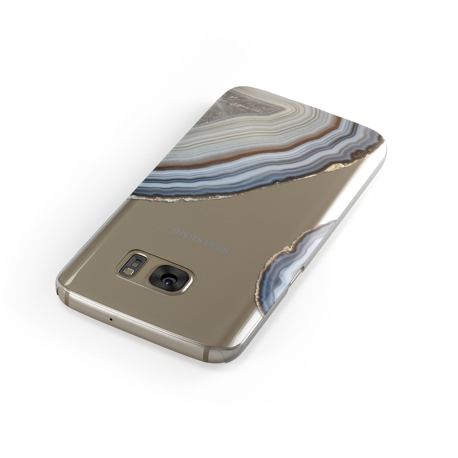 Agate Blue Grey Samsung Galaxy Case Front Close Up