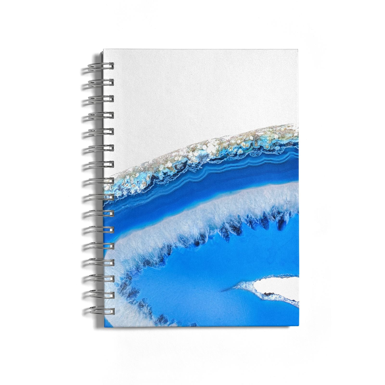Agate Blue Notebook with Silver Coil