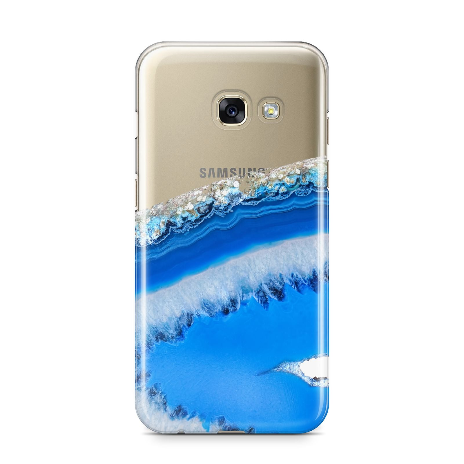 Agate Blue Samsung Galaxy A3 2017 Case on gold phone