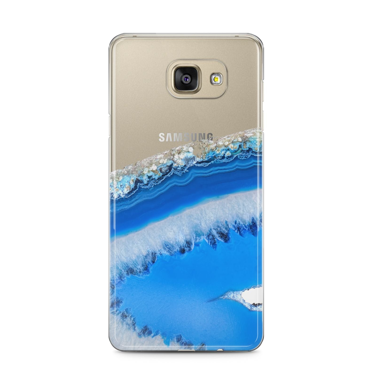 Agate Blue Samsung Galaxy A5 2016 Case on gold phone